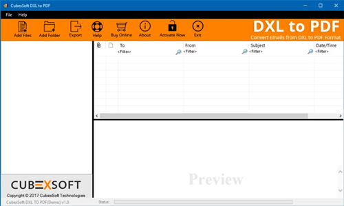MailsMagic DXL to PDF