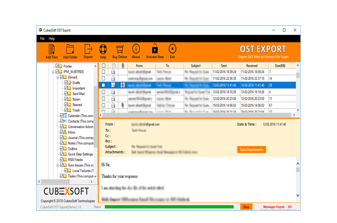 Migrate ost to pst
