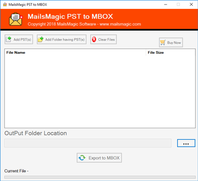 Windows 7 MailsMagic PST to MBOX Converter 1.0 full