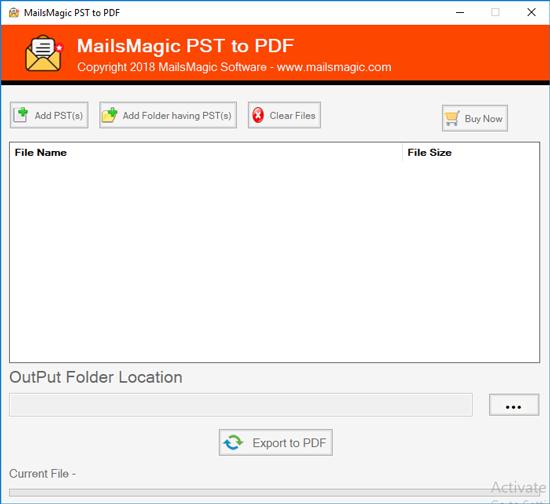 Windows 7 MailsMagic PST to PDF Converter 1.0 full