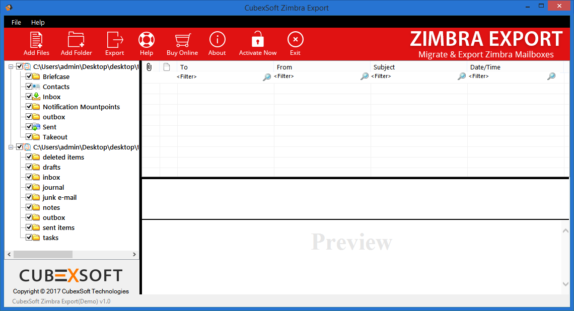Windows 7 MailsMagic Zimbra to EML 1.0 full
